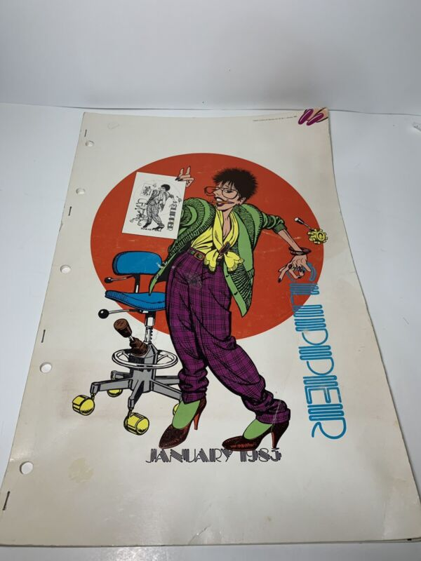 Clipper Creative Art Svc 1983 Vtg Commercial Clip Art Book Dynamic Graphic