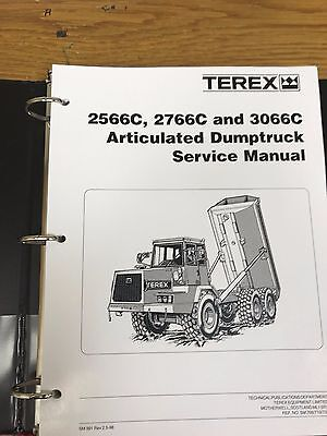Terex 2566c 2766c 3066 Articulated Dump Truck Service Shop Repair Service Manual