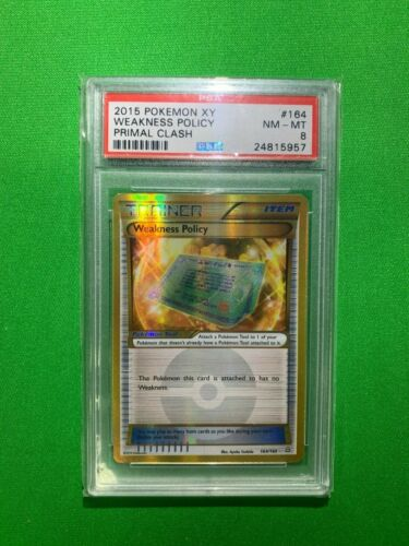 WEAKNESS POLICY 164//160 SECRET RARE PRIMAL LIGHT PLAY POKEMON TRADING CARD GAME