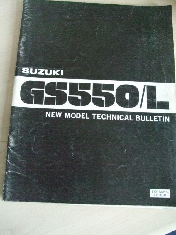 SUZUKI GS500/ L NEW MODEL TECHNICAL BULLETIN MANUAL  1980