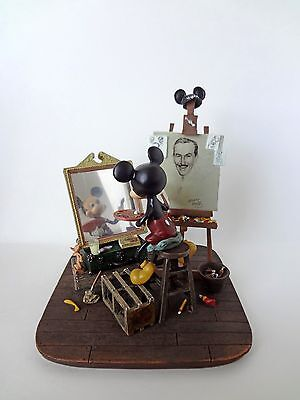 Disney Parks Self Portrait Mickey Mouse and Walt Disney Figurine