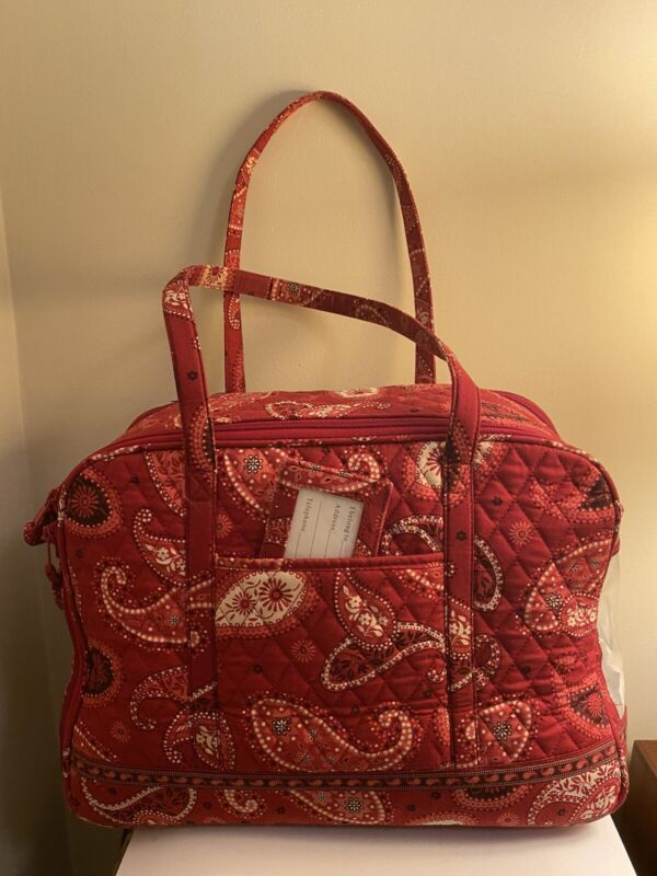 Vera Bradley Paisley Red And White Pet Carrier Tote