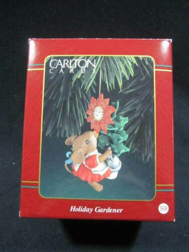 Holiday Gardener - Carlton Cards Ornament  - Mouse/Flower