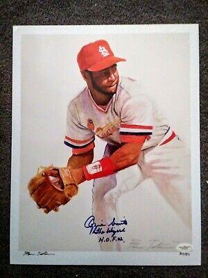 Ozzie Smith 11x14 Sign / Autograph Lithograph St.Louis Cardinals COA Louis Cardinals Lithograph
