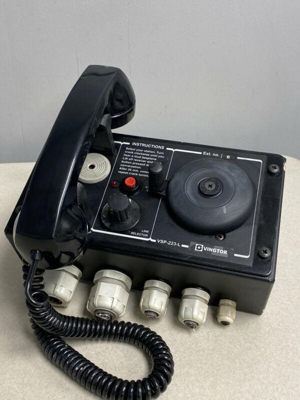 Vingtor Zenitel Marine VSP-223-L Batteryless Telephone System (Used)