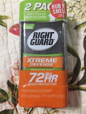 Gel Fresh Blast - Right Guard Xtreme Defense 5 Antiperspirant Gel 72 HR Fresh Blast 4oz - 2 PK Gel