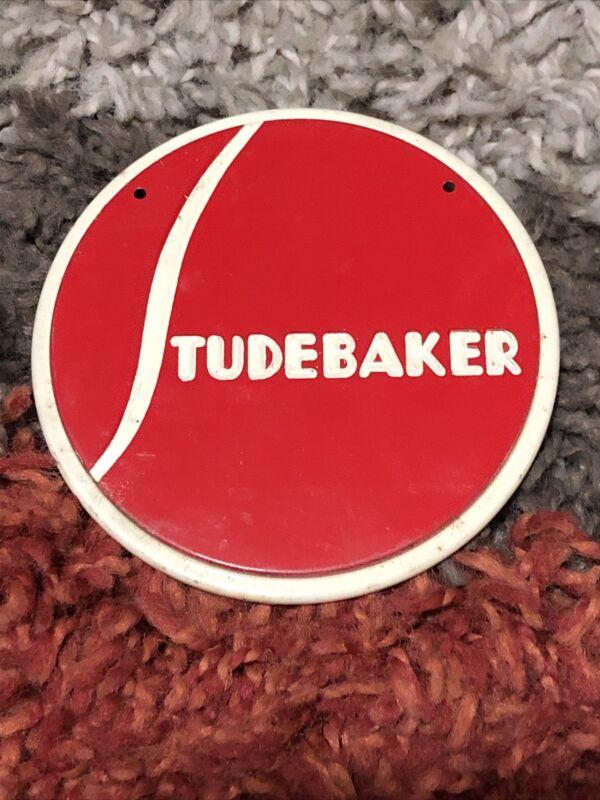 Vintage Studebaker Advertising Tin Emblem Sign
