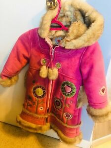 Toddler fur lined winter coat