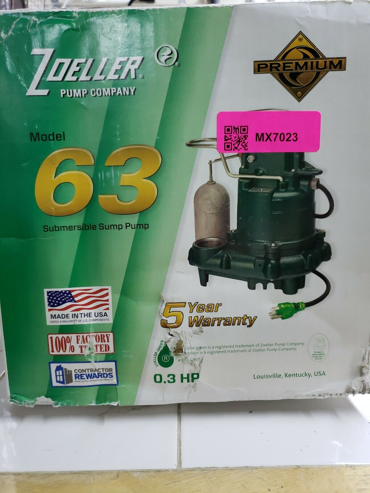 submersible sump pump 63 the boxed are