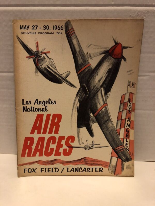 1966 Los Angeles National Air Races Program Fox Field Lancaster Vintage