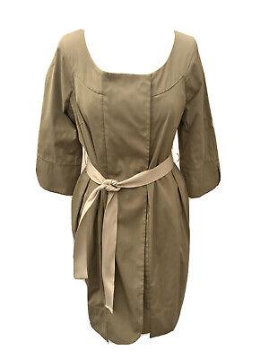 Hoss Intropia Khaki Belted Jacket Tunic Pockets 42 14