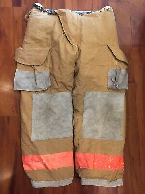 Firefighter Turnout Bunker Pants Body Guard 38x30 1995 Halloween Costume Vintage