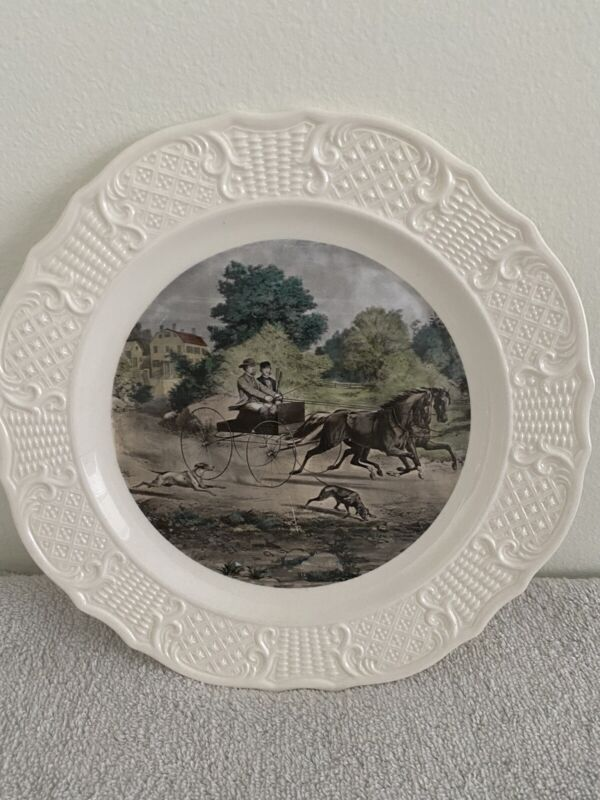 """""""Life in the country"""" Currier and Ives Reproduction American series plate"""