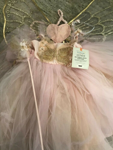 Pottery Barn Kids Pink Butterfly Fairy Tutu Costume 7-8 NEW Halloween