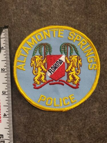 Altamonte Springs Police Patch - Vintage - Florida - Cheesecloth Backing