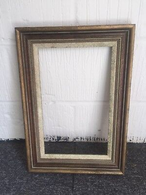 Wooden distressed picture frame