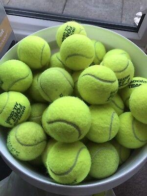 24 QUALITY USED TENNIS BALLS.
