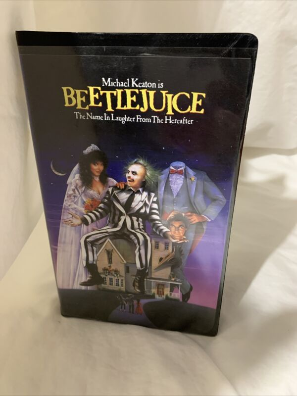 Vintage Tim Burton's Beetlejuice VHS (Clam Shell Case) 1988 Very Good Condition