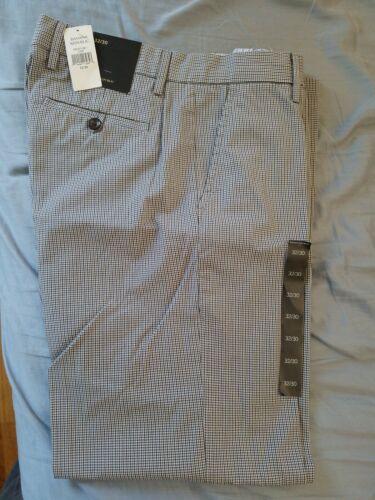 NWT New Banana Republic 32 x 30 Grey Plaid Pants
