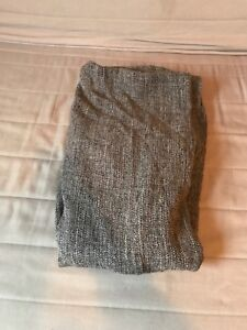 Grey throw blanket