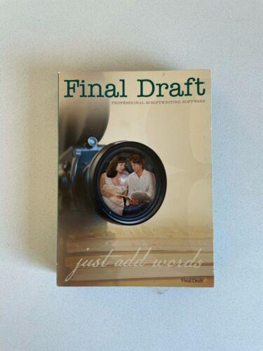 FINAL DRAFT Professional Scriptwriting Software Version 8 for Mac & Windows