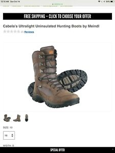 Cabelas miendl hiking hunting boots