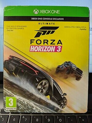 Steel Book & Sleeve Forza Horizon 3 Xbox One Ultimate Edition *RARE* complete