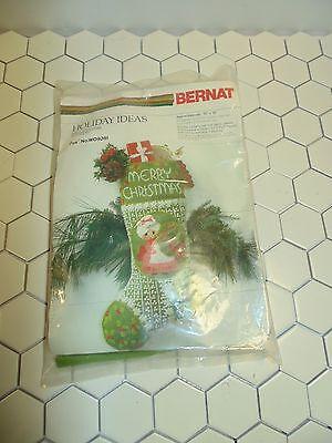 "Vintage BERNAT Stitchery ""Mrs. Christmas"" Stocking Kit  #WO9280~10"" x 18"""