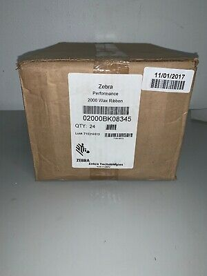 Genuine Zebra Performance 2000 Wax Ribbon 02000BK08345 3.27