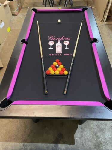 Customised POOL TABLES, 6ft 7ft Pick Any Logo Design Your Own