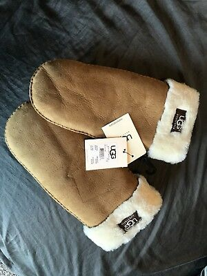 UGG Gloves Classic Logo Mittens Chestnut L XL NEW for sale  Cedar Rapids