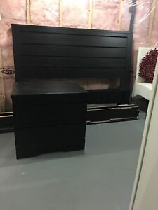 Headboard, Bed Frame and Night Table (Dbl)