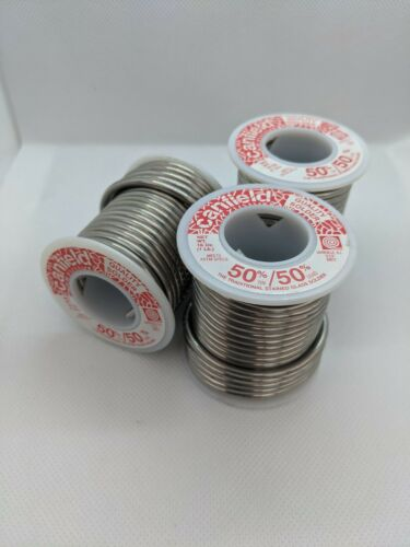 3 Canfield 50/50 Solder 1lb Spools - Stained Glass