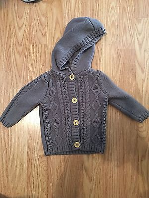 Carter's Button Front Girls Gray Cable Knit Sweater Size 9 Months