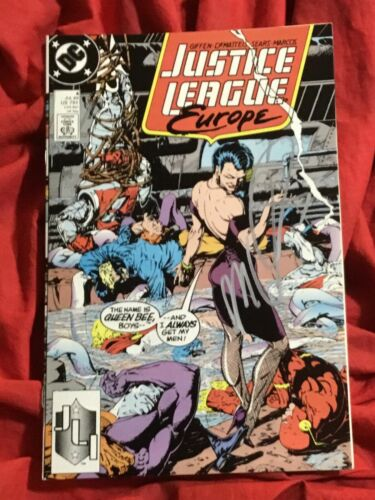 JUSTICE LEAGUE EUROPE #4~THE FLASH~SIGNED BY J M DEMATTEIS~DC COMICS BOOK~