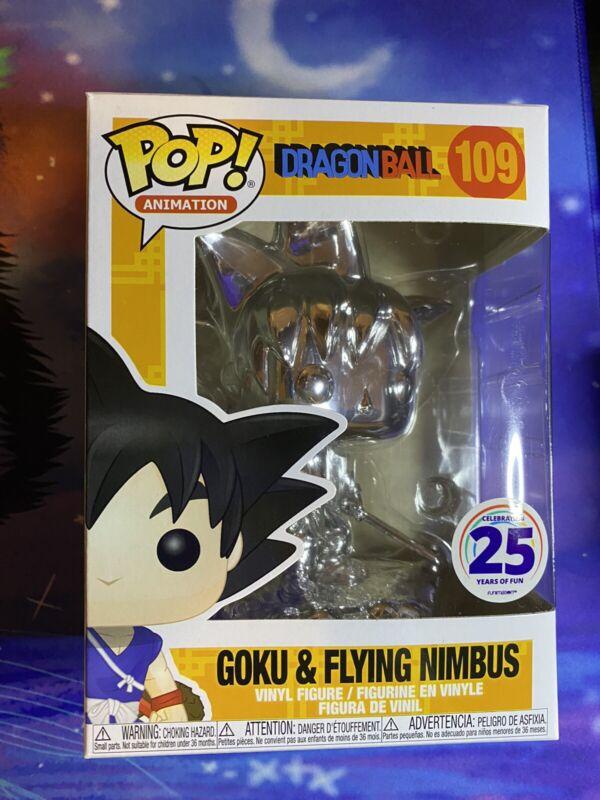 FUNKO POP Goku /& Flying Nimbus dragon ball #109 Chrome Funimation Exclusive