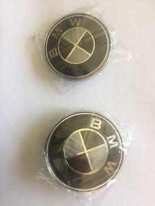 BMW black carbon wheel caps