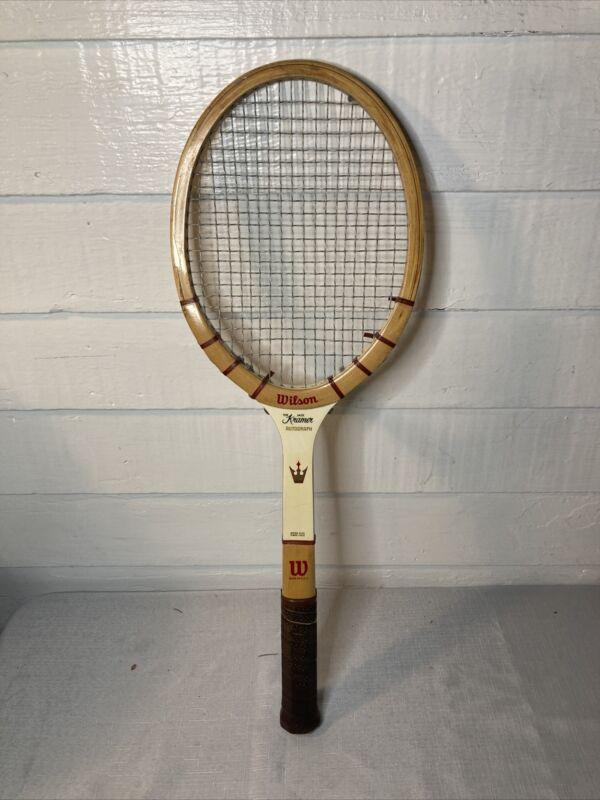 Vintage Wilson Jack Kramer Autograph Medium Wooden Tennis Racket
