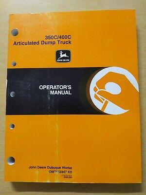 John Deere 350c400c Articulated Dump Truck Operators Manual