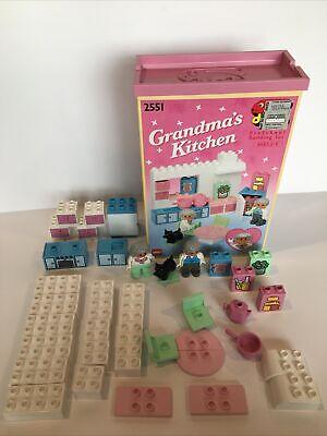 Lego Duplo 2551 Grandma's Kitchen 1992 Grandpa Dog 100% Complete with BoxRARE
