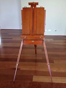 New height adjustable wooden easel with drawer Southern River Gosnells Area Preview