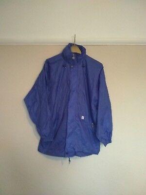 K-Way Vintage 80s 90s Waterproof Windbreaker Cagoule Jacket •Size S• Kway