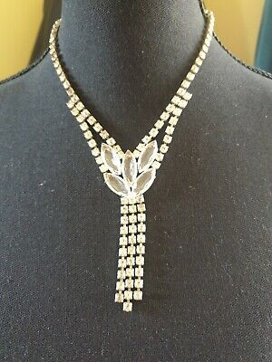 1930s Art Deco Style Jewelry 1930s / 40s GENUINE VINTAGE PASTE NECKLACE - SIMPLY STUNNING $69.63 AT vintagedancer.com