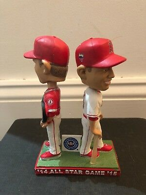 Mike Trout All Star Game Dual MVP Trophy Bobblehead, Los Angeles Angels - All Star Trophy