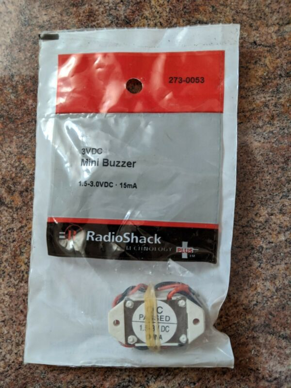 NEW! RadioShack 3VDC 15mA Mini Buzzer 273-0053 *FREE SHIPPING*