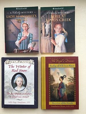 Mixed Lot 4 American Girl Felicity Mystery Dear America Royal Diaries