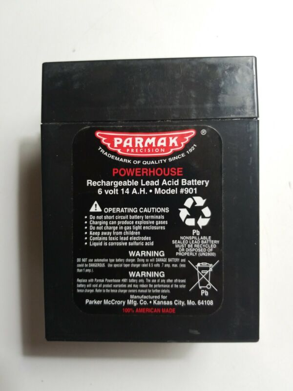 Parmak 901 6V 14Ah Battery OEM  for Solar Powered Electric Fences. FREE SHIPPING