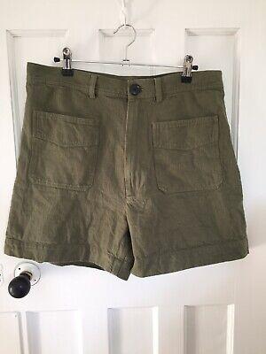 Ladies Super High Waist Shorts Green Bellerose