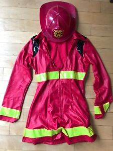 Women's firefighter halloween costume