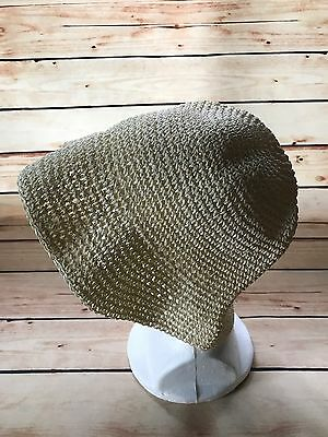 Summer Women's Sun Hat Beige Foldable Straw Floppy Hats Beach Bohemia Peasant